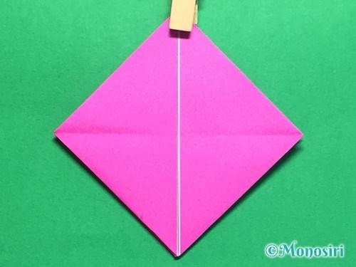 折り紙で羽根つき風船の折り方手順13