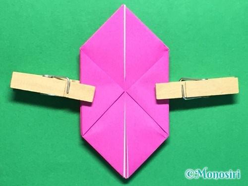 折り紙で羽根つき風船の折り方手順16