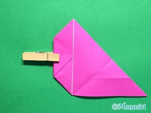 折り紙で羽根つき風船の折り方手順19