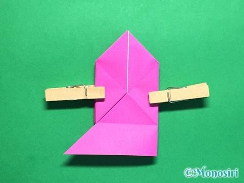 折り紙で羽根つき風船の折り方手順21