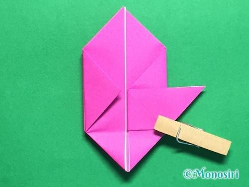 折り紙で羽根つき風船の折り方手順26