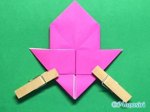 折り紙で羽根つき風船の折り方手順27