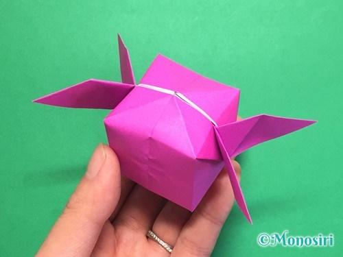 折り紙で羽根つき風船の折り方手順31