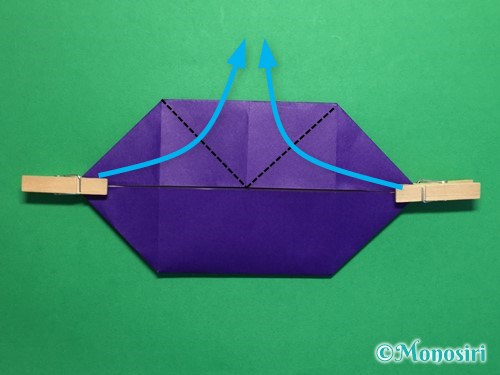 折り紙でだまし船の折り方手順13