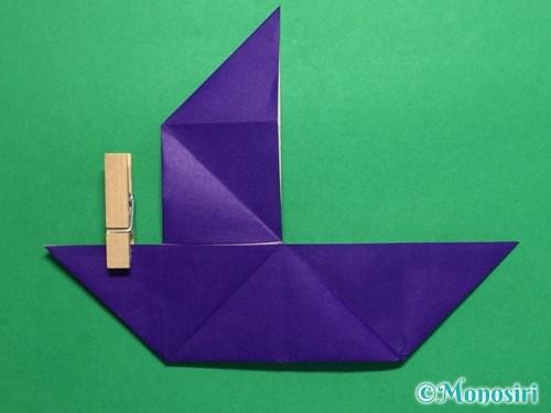 折り紙でだまし船の折り方手順17
