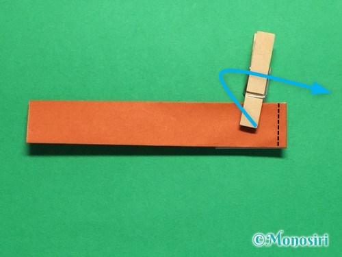 折り紙でつくしの折り方手順14