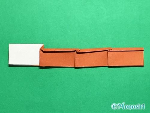 折り紙でつくしの折り方手順23
