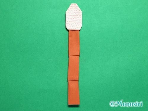折り紙でつくしの折り方手順28