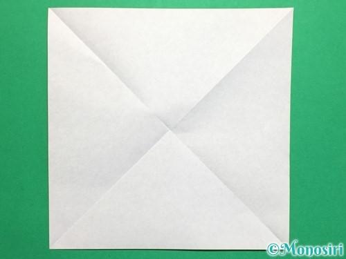 折り紙で回せるコマの作り方手順2
