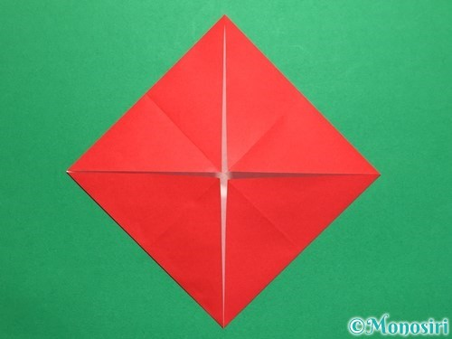 折り紙で回せるコマの作り方手順4