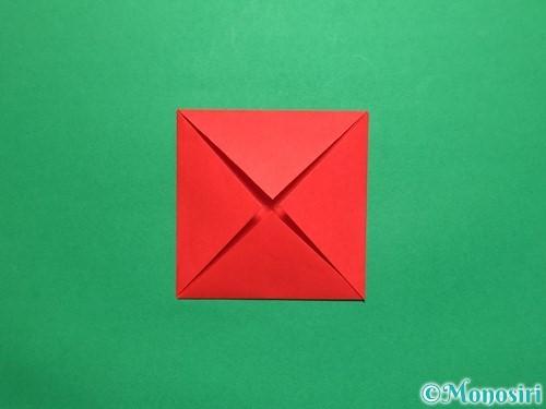 折り紙で回せるコマの作り方手順6