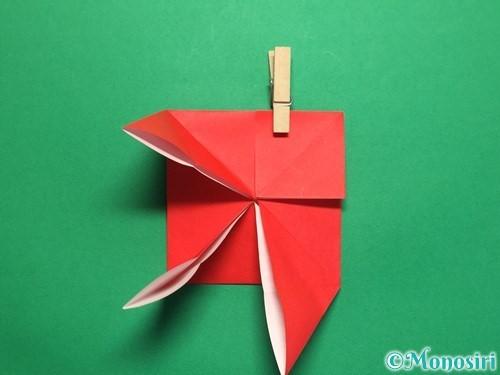 折り紙で回せるコマの作り方手順13