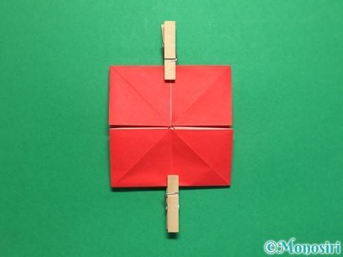 折り紙で回せるコマの作り方手順14