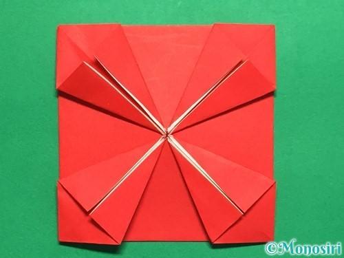 折り紙で回せるコマの作り方手順16
