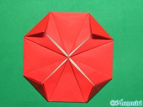 折り紙で回せるコマの作り方手順18