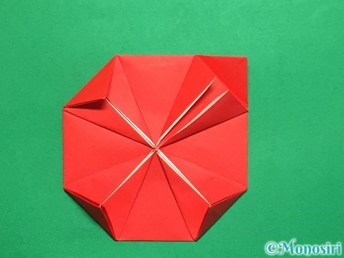 折り紙で回せるコマの作り方手順19
