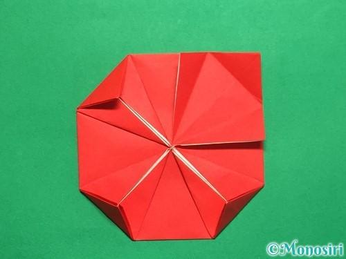 折り紙で回せるコマの作り方手順20