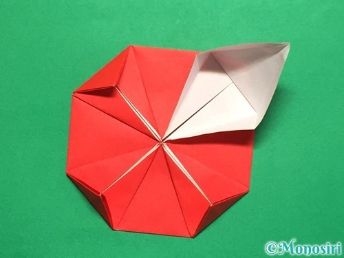折り紙で回せるコマの作り方手順22
