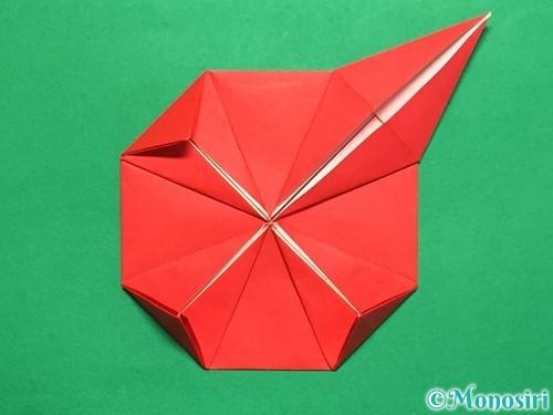 折り紙で回せるコマの作り方手順23