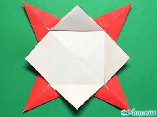 折り紙で回せるコマの作り方手順26