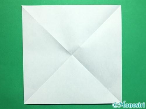 折り紙で回せるコマの作り方手順28