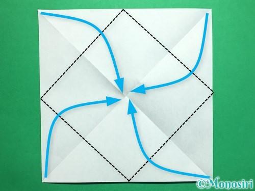 折り紙で回せるコマの作り方手順29