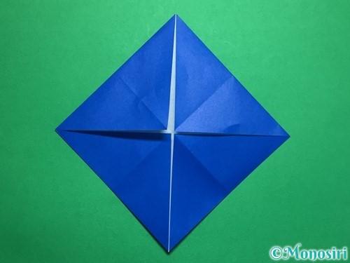 折り紙で回せるコマの作り方手順30
