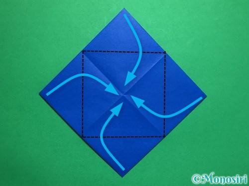 折り紙で回せるコマの作り方手順32