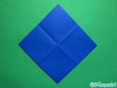 折り紙で回せるコマの作り方手順31
