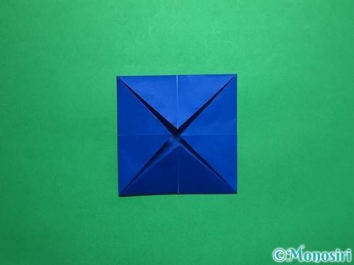 折り紙で回せるコマの作り方手順33