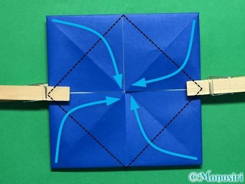 折り紙で回せるコマの作り方手順35