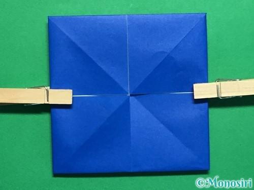 折り紙で回せるコマの作り方手順34