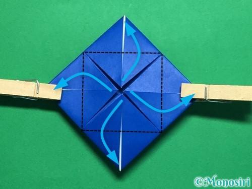 折り紙で回せるコマの作り方手順38