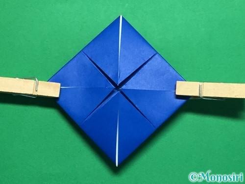 折り紙で回せるコマの作り方手順37