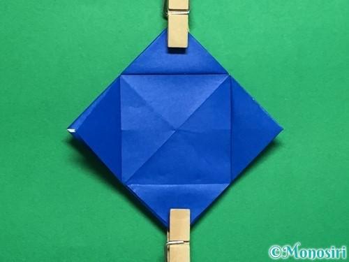 折り紙で回せるコマの作り方手順39