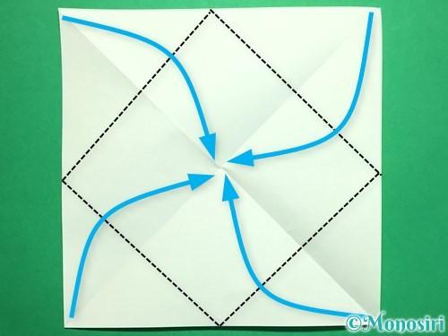 折り紙で回せるコマの作り方手順42