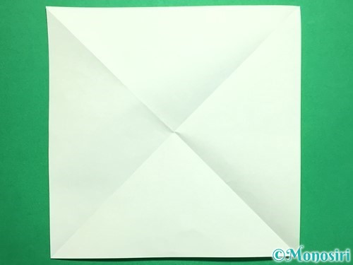 折り紙で回せるコマの作り方手順41
