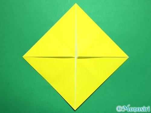 折り紙で回せるコマの作り方手順43