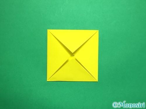 折り紙で回せるコマの作り方手順45
