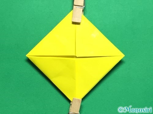 折り紙で回せるコマの作り方手順47