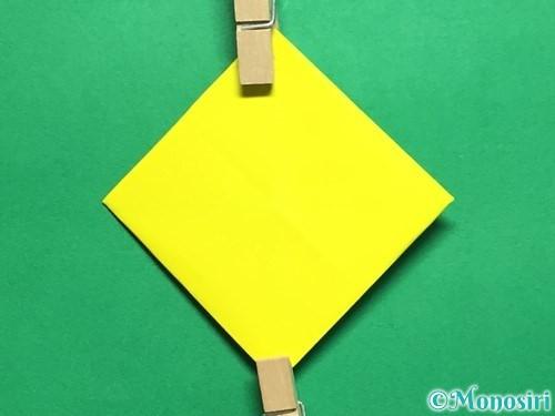 折り紙で回せるコマの作り方手順48