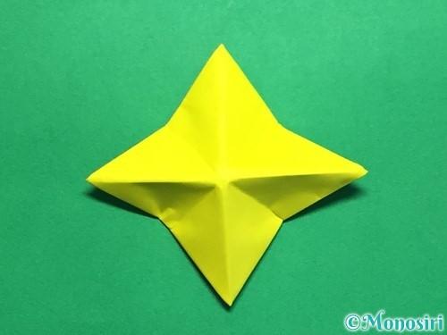 折り紙で回せるコマの作り方手順49
