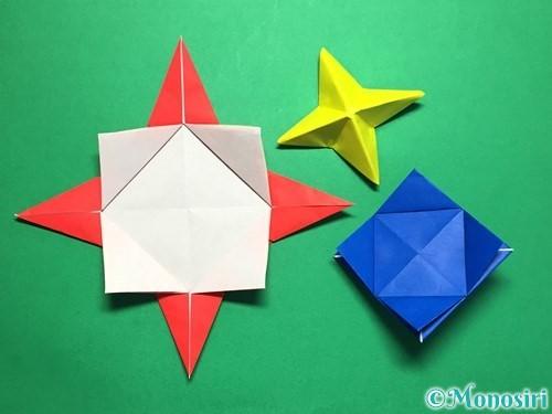 折り紙で回せるコマの作り方手順51