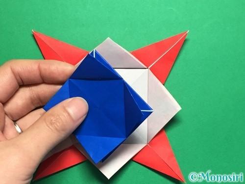 折り紙で回せるコマの作り方手順52