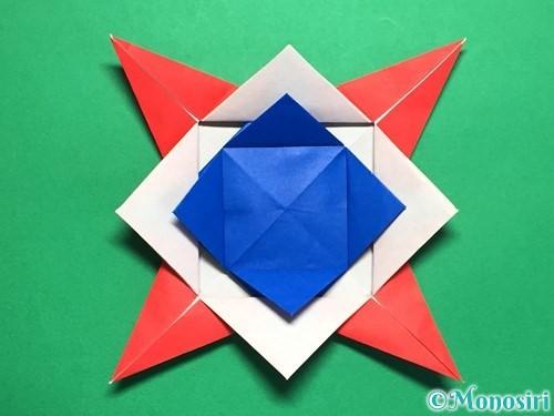 折り紙で回せるコマの作り方手順54