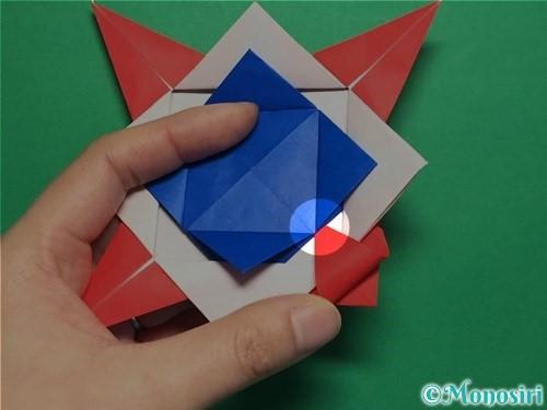 折り紙で回せるコマの作り方手順56