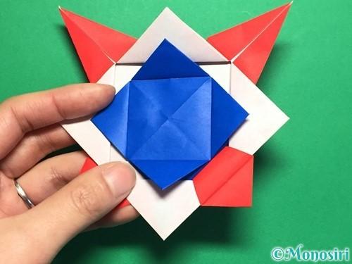 折り紙で回せるコマの作り方手順57