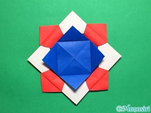 折り紙で回せるコマの作り方手順58