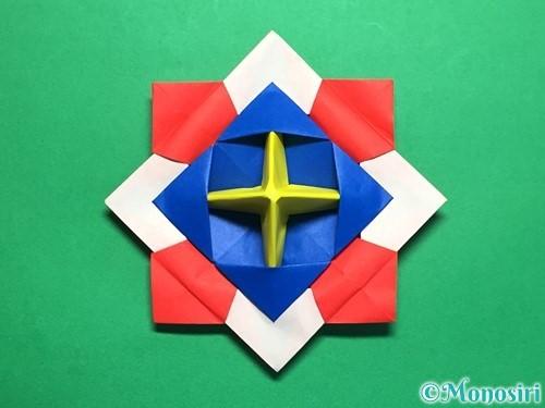 折り紙で回せるコマの作り方手順61