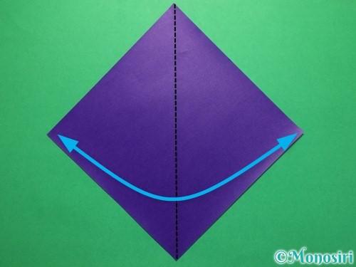 折り紙で平面のコマの作り方手順1